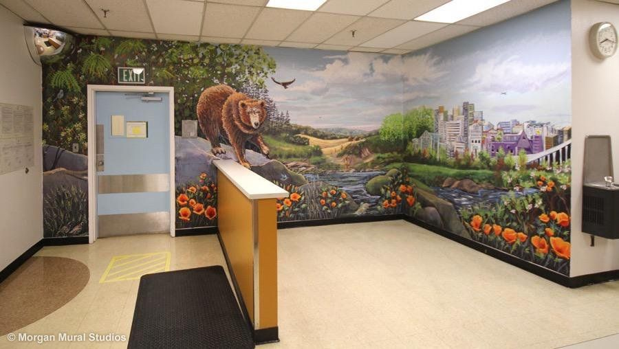 Everyone Shines Given the Right Lighting:  Murals at Juvenile Hall