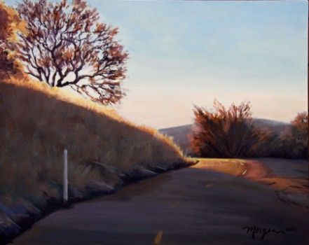 "Acrylic painting on canvas: ""Mount Diablo Series: Around the Bend"""