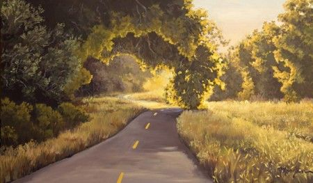 "Acrylic painting on canvas: ""Bike Path"""