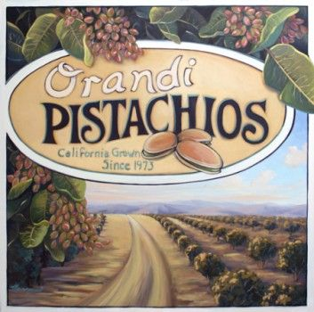"Acrylic painting on canvas: ""Orandi Pistachios"""