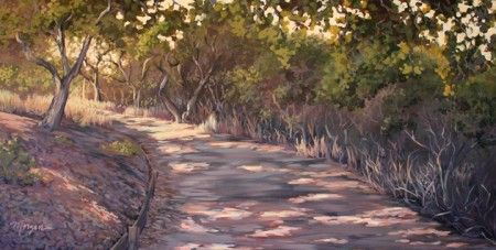 "Acrylic painting on canvas: ""Packard Trail"""